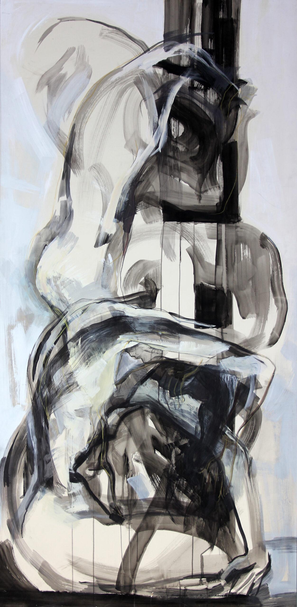 Slow Motion 1994 | 180 / 100cm, Tusche, Acryl / Papier