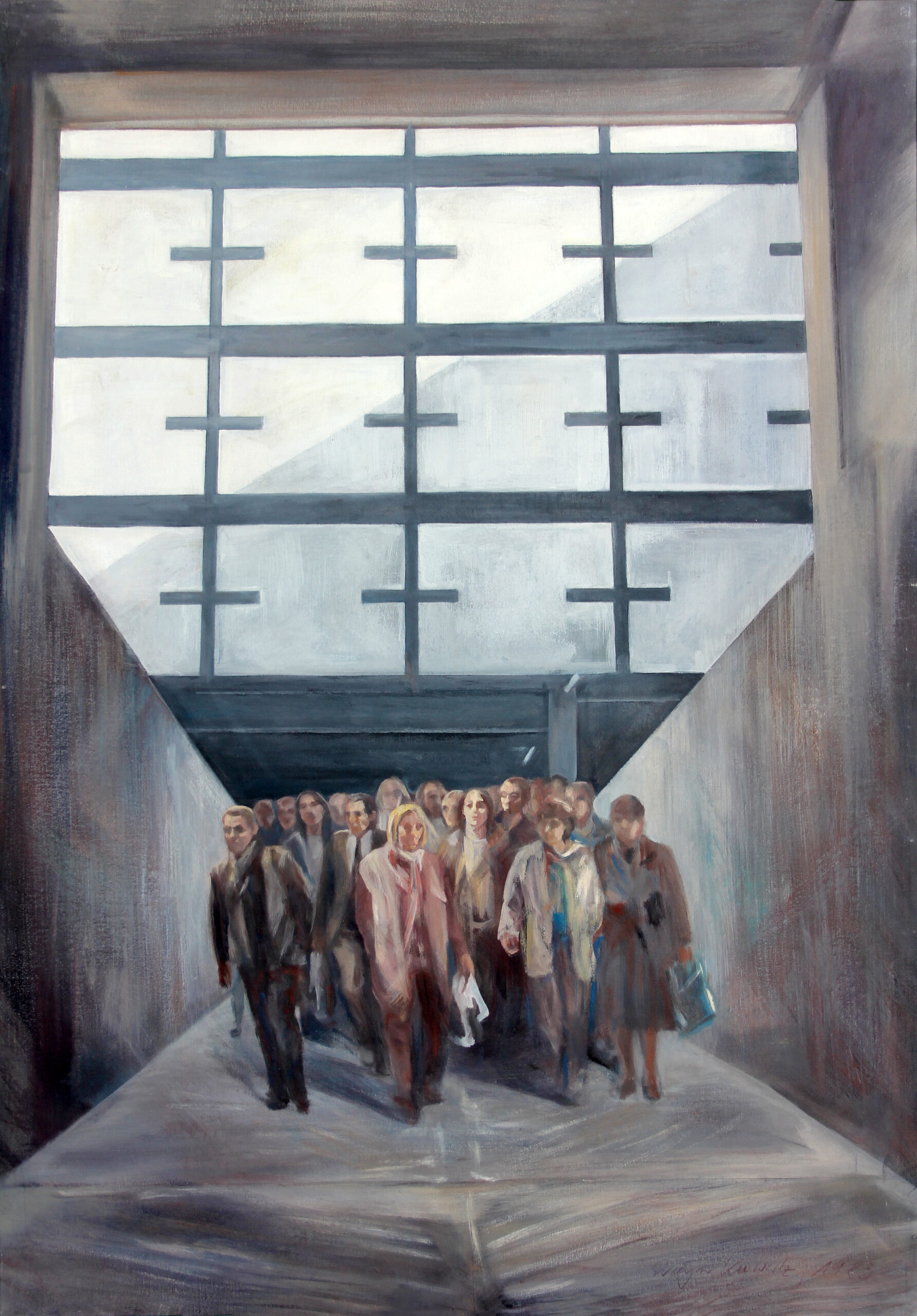 Atombunker Berlin 1983 | 100 / 70cm, Acryl, Öl / Leinwand