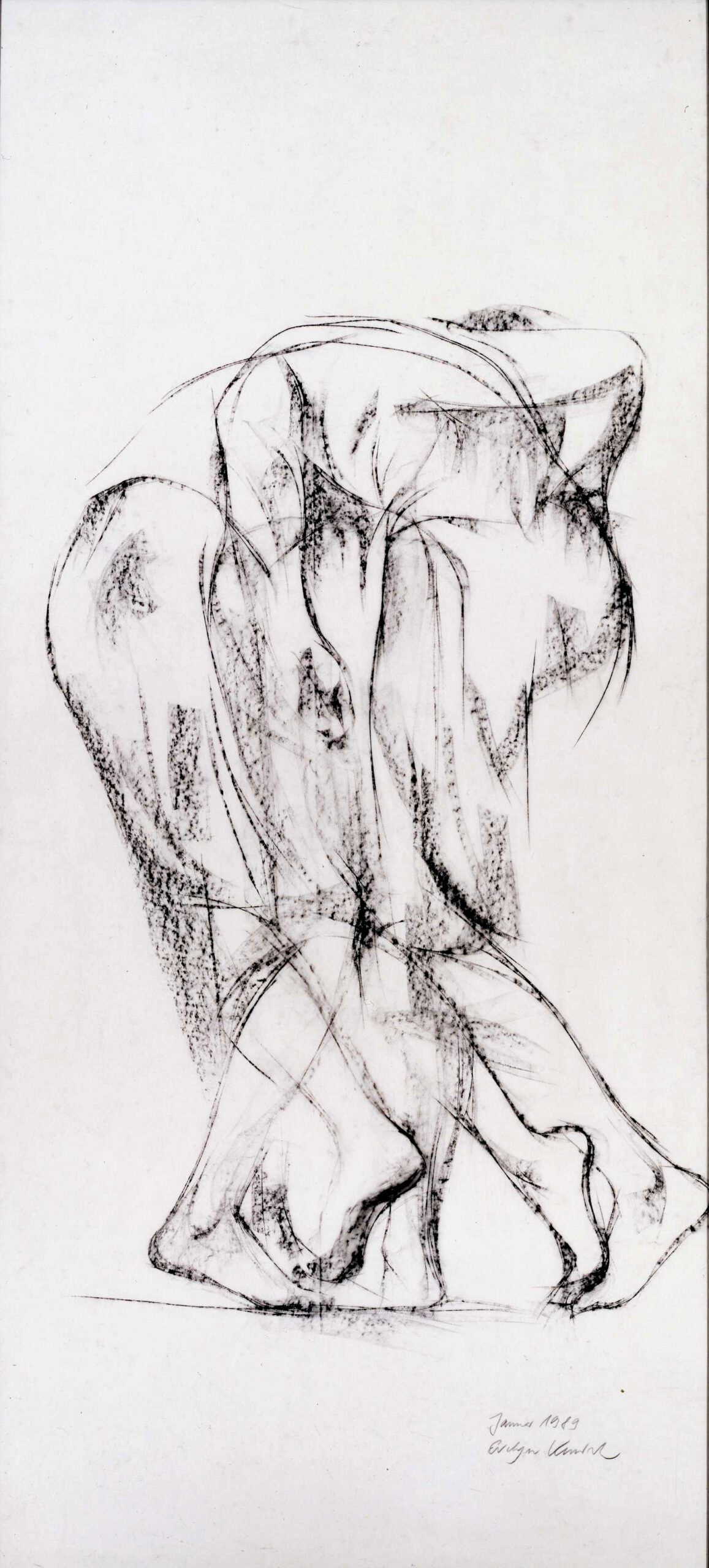Slowmotion 1989, 180 / 90cm, Kreide / Transparentpapier